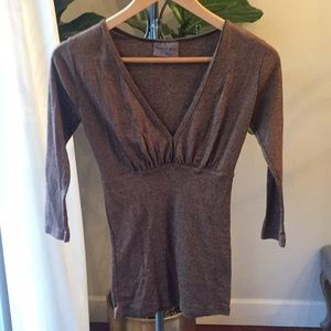 Womens Michael Stars v neck top 1 size fits most